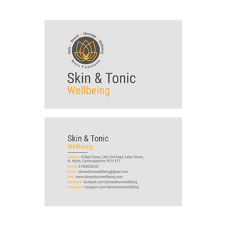 Skin & Tonic Wellbeing - Business Card