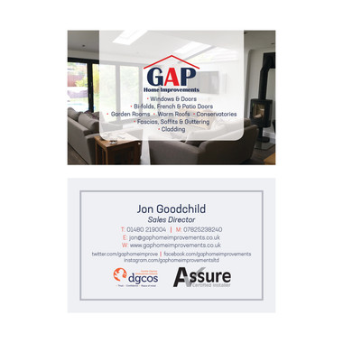 GAP Home Improvements - Business Card