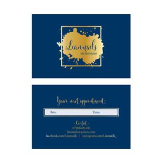 Liannails - nail technician - Business Cards