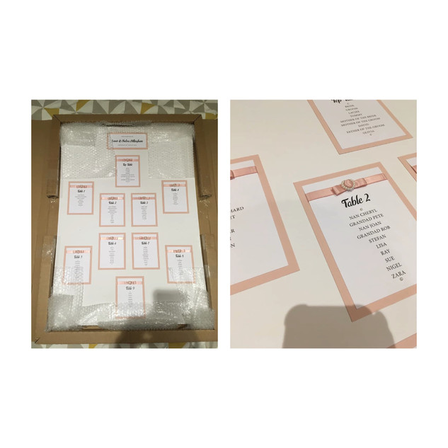 Blush and White Table Plan