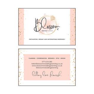 Blossom WEDDING PLANNING - Business Cards