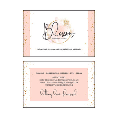 Blossom WEDDING PLANNING - Business Cards