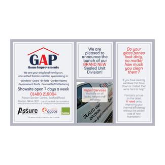 GAP Home Improvements - Half Page Advert