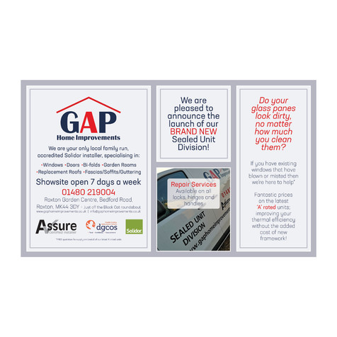 GAP Home Improvements - Half Page Advert