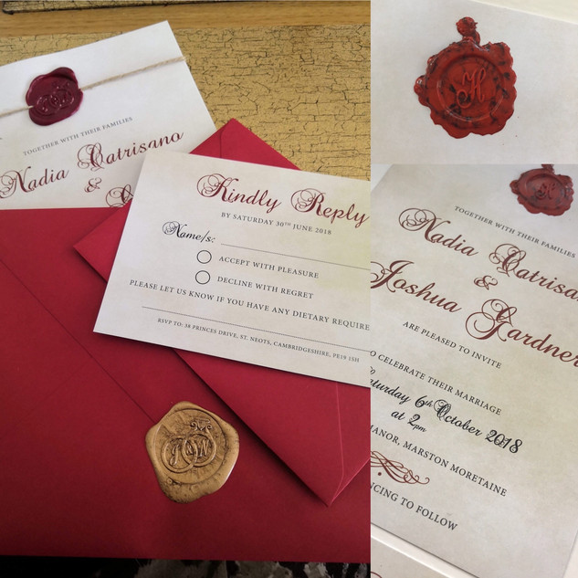 Traditional Aged Invitation Set With Wax Seal (A5/A6)