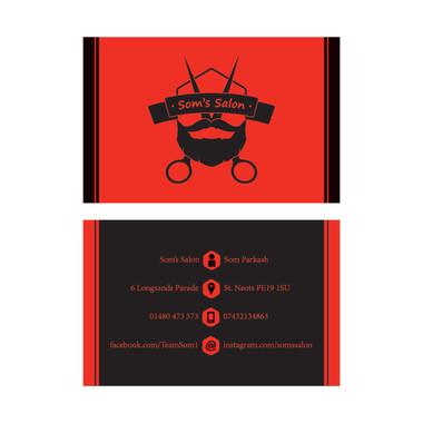 Som's Salon - Business Card