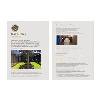 Skin & Tonic Wellbeing - Leaflet