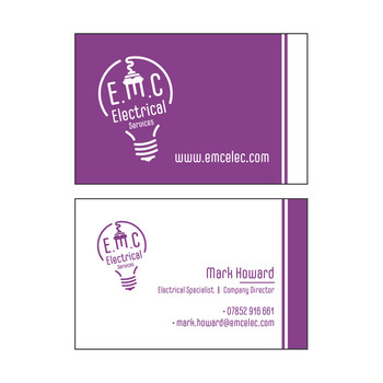 E.M.C Electrical Services - Business Cards
