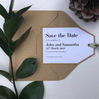 Natural Gift Tag Style (to fit C6)