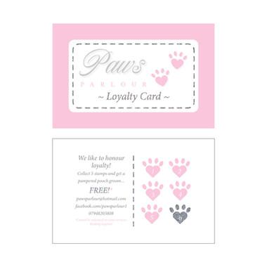 Paws PARLOUR - Loyalty Card