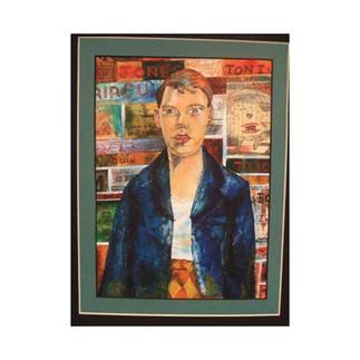 ** Recreation of Peter Blakes - Self Portrait in RAF Jacket **
