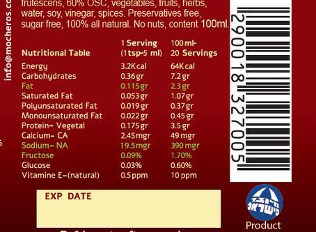 Mocheros Nutritional table