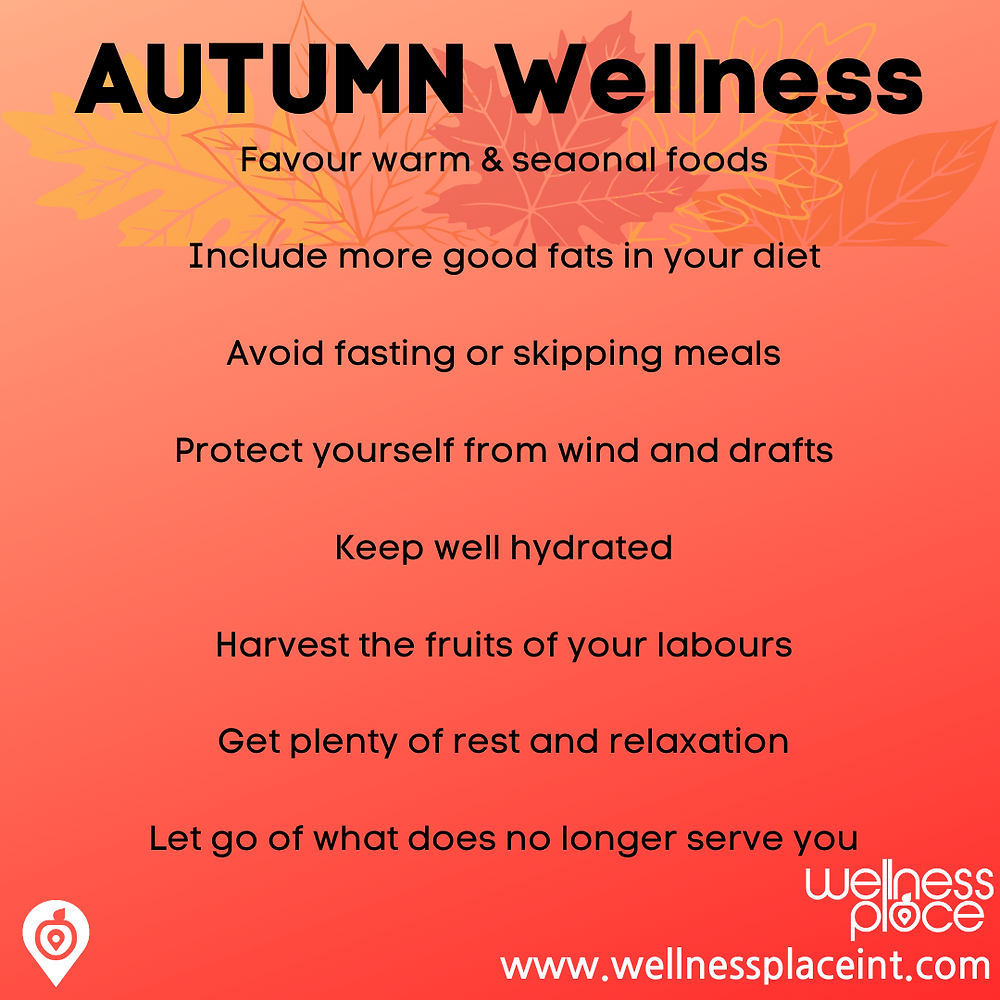 Infographic Wellness through the seasons: Autumn.  Credit Nicole Cullinan