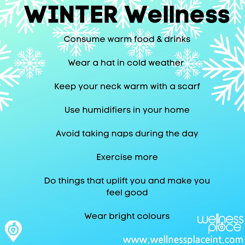 Wellness through the seasons: Winter. Credit: Nicole Cullinan @wellnessplaceint