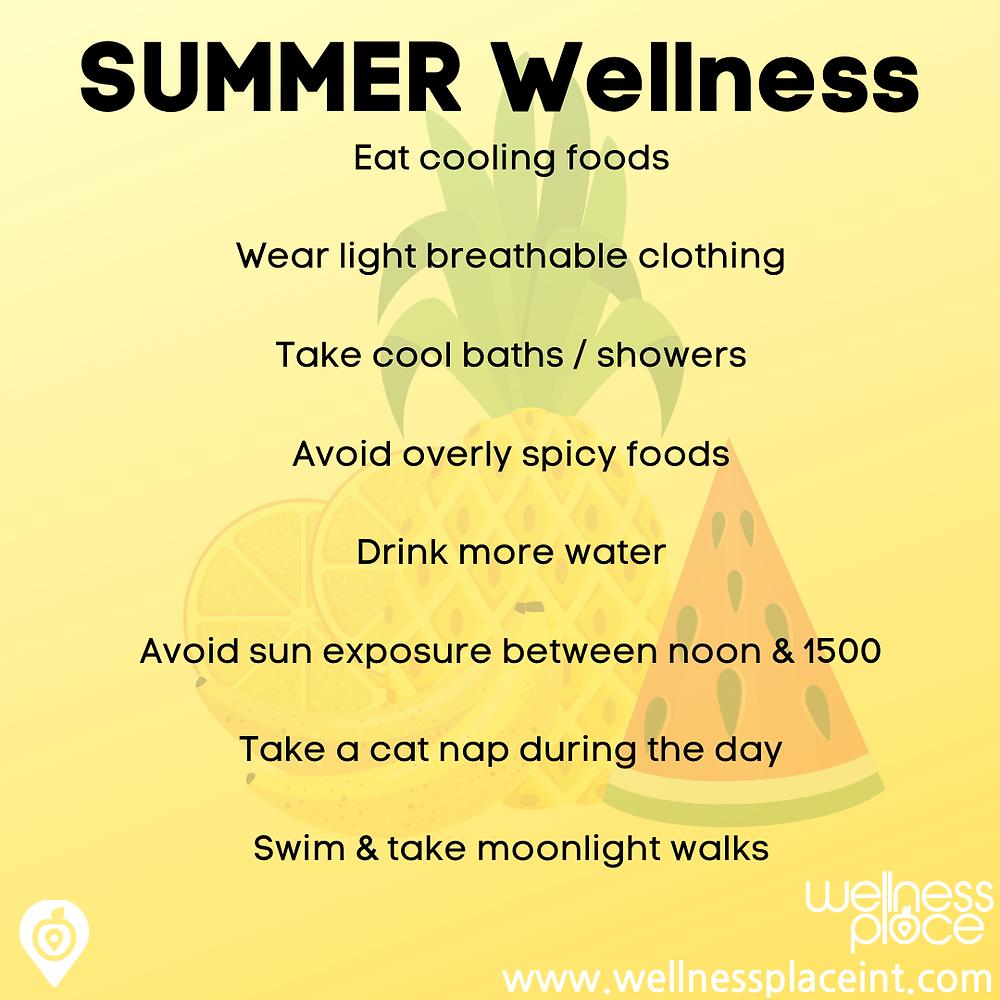 Wellness through the seasons: Summer. Credit: Nicole Cullinan