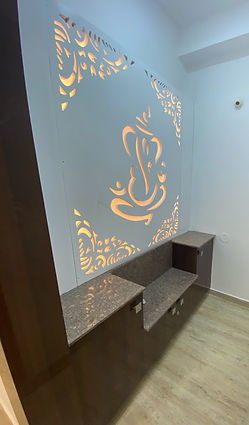 Pooja Room with CNC