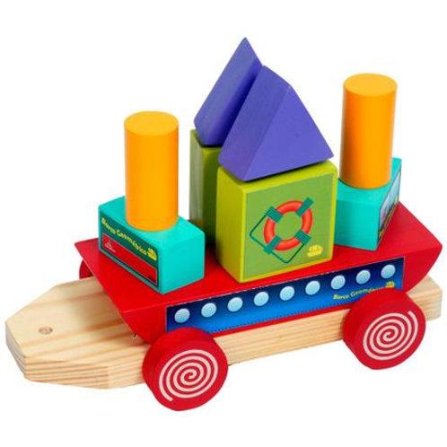 Barco Geométrico Brinquedo Educativo