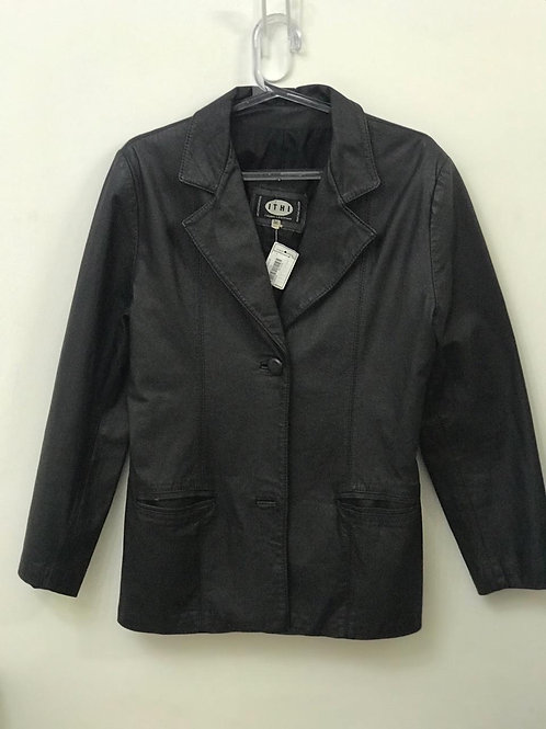 Jaqueta de couro média