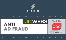 Inskin has received the JICWEBS Anti Ad-Fraud seal for another year