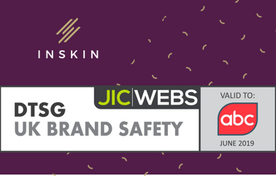 Inskin earns JICWEBS Brand Safety seal for the fifth year running