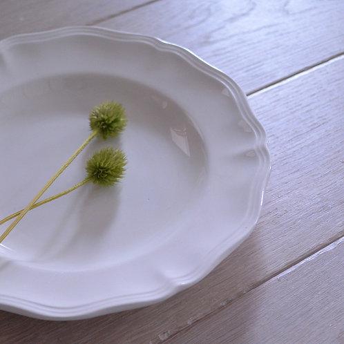 〈N様専用〉*フランスアンティーク*サルグミンヌ 花リム 深皿 3枚セット
