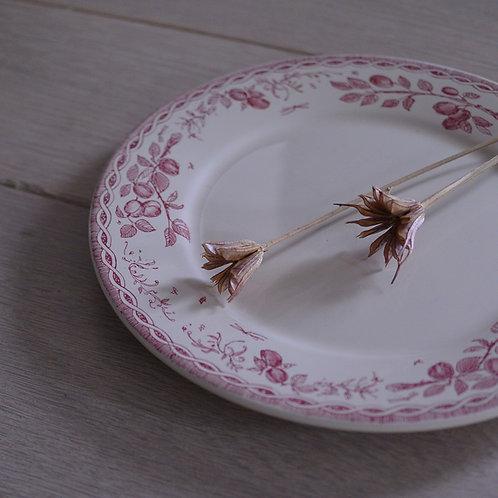 *フランスアンティーク*ムーランデルー 赤い実のデザートプレート