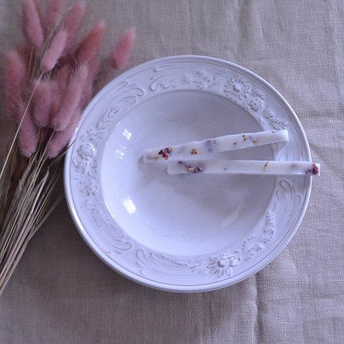 *フランスアンティーク*ニデルヴィレ 白いレリーフ深皿