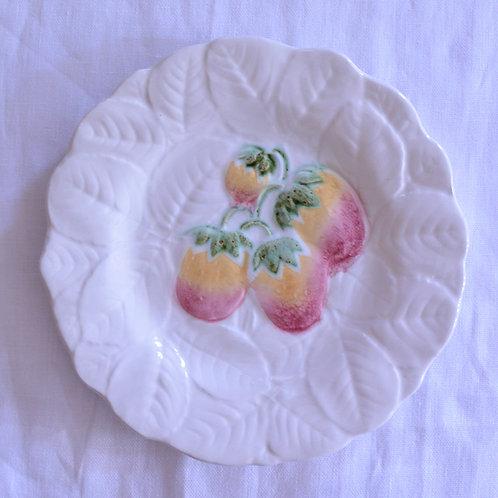 *フランスアンティーク*バルボティーヌのデザート皿 いちご