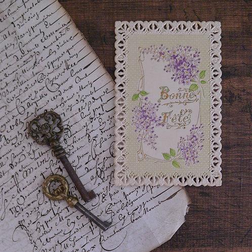 *フランスアンティーク*スミレのポストカード