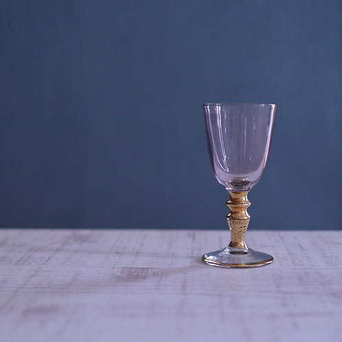 *フランスアンティーク*ピンクのリキュールグラス