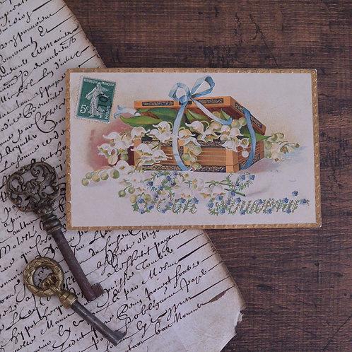 *フランスアンティーク*スズランのポストカード