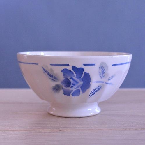 *フランスアンティーク*青いお花のカフェオレボウル