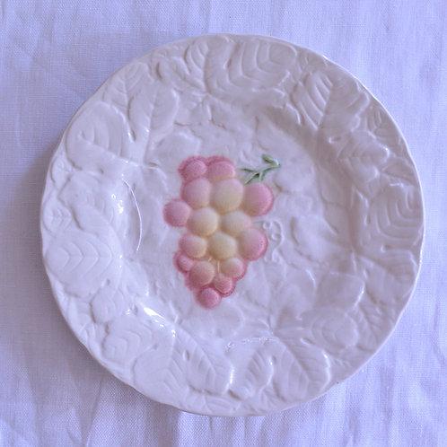 *フランスアンティーク*バルボティーヌのデザート皿 ぶどう