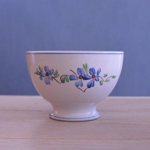*フランスアンティーク*青い小花の小さ目カフェオレボウル