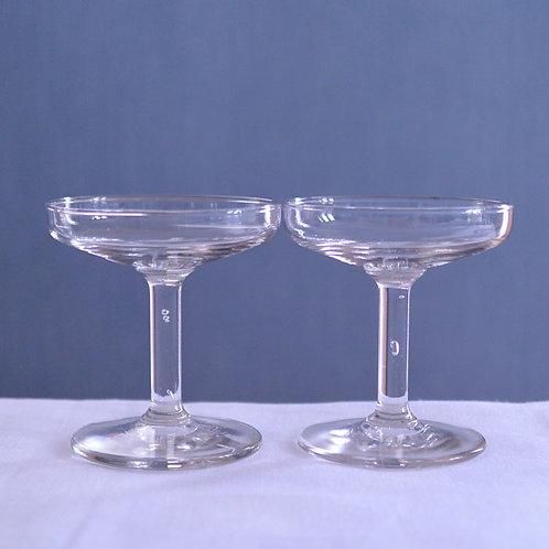 *フランスアンティーク*19世紀のガラスクープ2個セット