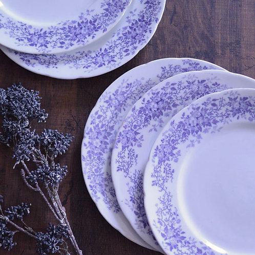 *フランスアンティーク*サルグミンヌ 紫小花のデザートプレート