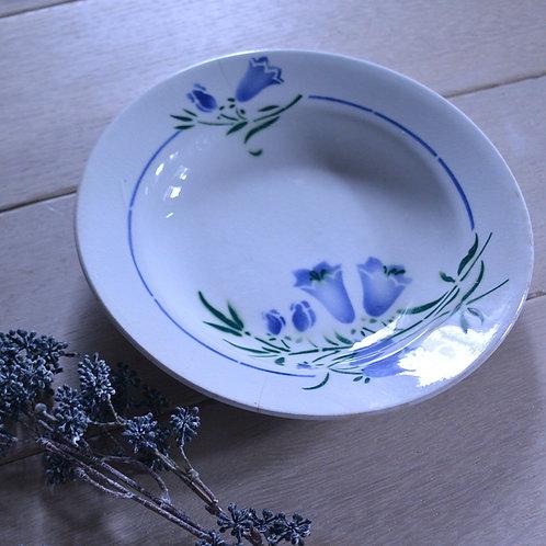 *フランスアンティーク*細かな貫入が美しいブルーベルの深皿