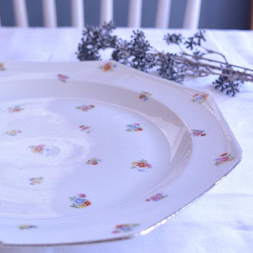 *フランスアンティーク*小花柄オクトゴナル大皿