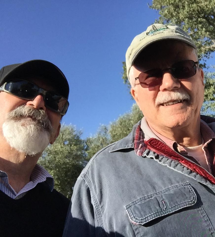 Mark DeWitt and Jeff Titon at a California winery, 2018