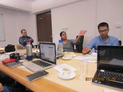 Dr. Ulka Kelkar in session with FEJI Fellows