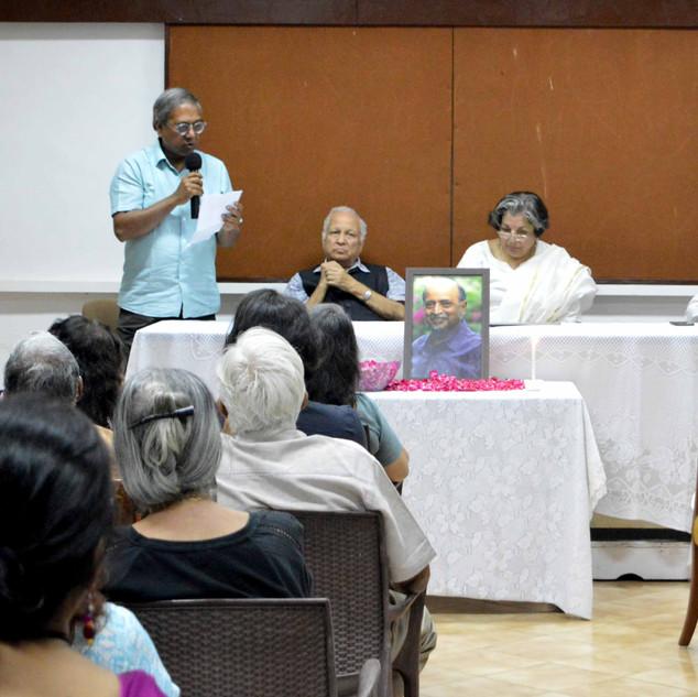 2. FEJI VP Joydeep Gupta reads out some