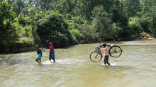 When bridge kept aside, how rural people cross the river.