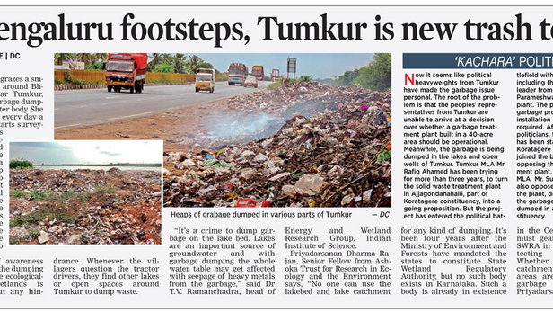 In Bengaluru footsteps, Tumkur is new trash town