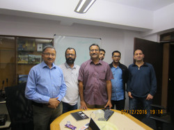 The FEJI Media Fellows with Trustees Gopikrishna Warrier and Atul Deulgaonkar