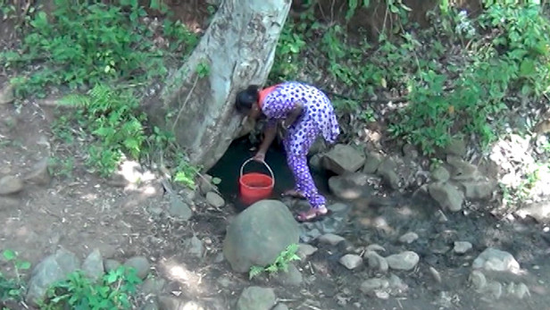 Chronic water scarcity has turned Kulapadi's toilets into goat sheds