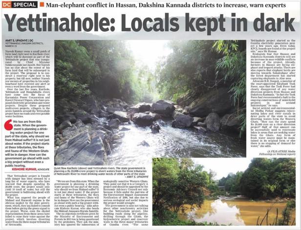 Yettinahole: Locals kept in Dark