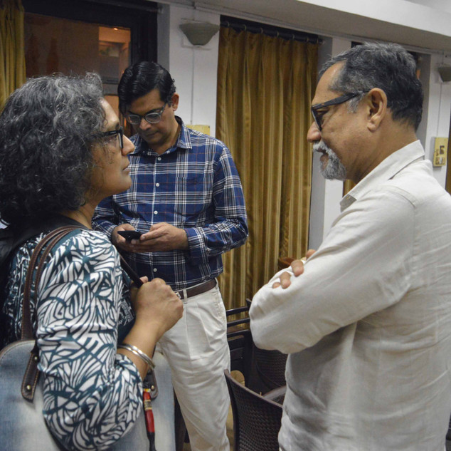 6. Meena Menon (left), who helped with F