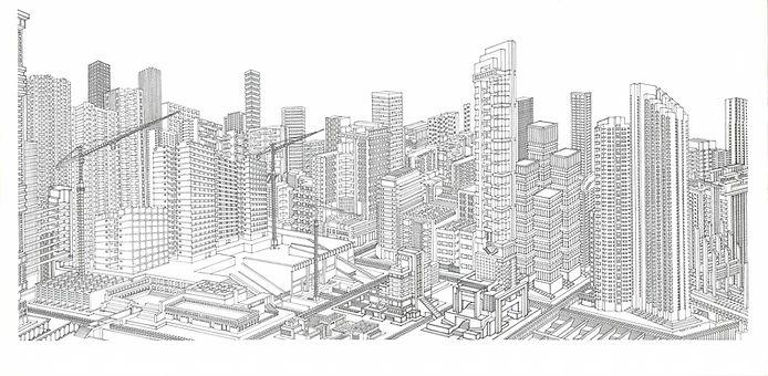 DORADO Diana Londoño, dibujo arquitectonico, artista colombiana, arte y arquitectura, arte contemporáneo, absenta, avsentha, arte en bogotá, dibujantes, dibujos de edificios, Diana paola londoño Arias. gonzalo jimenez de quesada. centro de Bogotá bogota emblematica