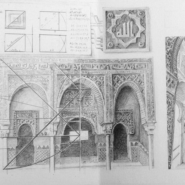 Arcos de la alhambra.