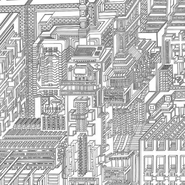 Ciudad maquina detalle